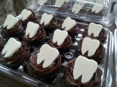 Dentist tooth cupcakes