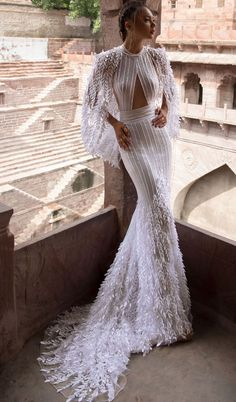 lior charchy 2018 high neck sexy fit and flare Wedding Dresses #weddings #wedding