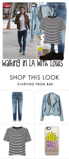 """""""Walking in LA with Louis"""" by daniellee93 ❤ liked on Polyvore featuring Dsquared2, French Connection, Casetify and Ann Demeulemeester"""