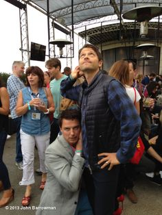 John Barrowman & Misha Collins at SDCC everyone. That's 2/3rds of SuperWhoLock on board.