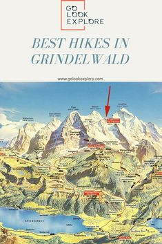 Best hikes in Grindelwald [Guide] Hiking Guide, Hiking Trails, Grindelwald Switzerland, Visit Switzerland, Best Hikes, Travel Alone, Africa Travel, Wooden Architecture, European Travel