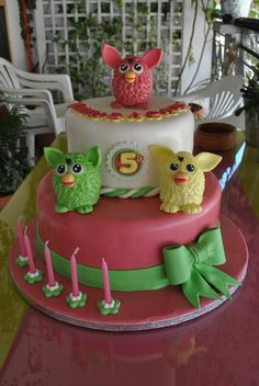 Furby cake, a special request from my daughter.