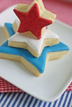 #FourthofJuly Star Cookie Tower