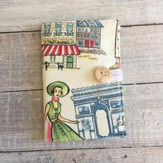 Oh La La - perfect for the Paris lover - card holder Paris Design, Bank Card, Minimalist Wallet, Small Wallet, Wallets For Women, Card Case, Retro, Fabric, Cards