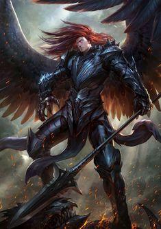 Tagged with fantasy, dnd, wideworldofimagination; Fantasy Male, Fantasy Warrior, Dark Fantasy Art, Fantasy Artwork, Male Angels, Angels And Demons, Dnd Characters, Fantasy Characters, Fantasy Character Design