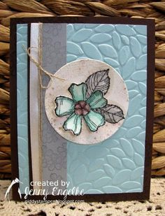 It& time for another Create with Connie and Mary Challenge ! I also used the Stamp Ink Paper Challenge to . Scrapbooking, Scrapbook Cards, Embossed Cards, Stamping Up Cards, Cards For Friends, Crafty Projects, Flower Cards, Homemade Cards, Making Ideas