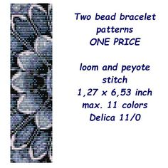 Looking for your next project? You're going to love Peyote and loom 2 bracelet PDF patterns by designer zdenka.wega.