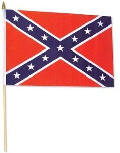 Confederate Stick Flag 12 x 18 inch by US Flag Store. $1.66. High quality Confederate Stick Flag 12 x 18 inch, mounted on a 24 inch wooden stick. This historical flag is made from polyester and printed in bright colors. The flag is attached to the stick with a sleeve and not staples. Each flag is individually sewn around the edges. We also offer matching US flags, and attractive varnished wood bases and wall brackets to mount these flags.. Save 51%!