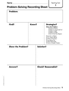 math worksheet : guided word problem solving template  math instructional  : Math Problem Solving Worksheet