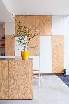 Love the cat. Multiplex + beton. Tim Rogge - Ganzendries Gent, Vlaamse Renovatiedag