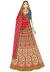Lehenga Choli - Buy breathtaking lehenga choli design for wedding, party or festive occasions online from Cbazaar's latest collection of bridal, party, and festive wear lehenga. Fashion Illustration Tutorial, Fashion Illustration Dresses, Fashion Illustrations, Fashion Design Drawings, Fashion Sketches, Choli Designs, Henna Designs, Famous Wedding Dresses, Indian Illustration