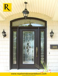 Single Entry Door, Two Side Lites, Transom, Wood Finish, Designer Glass Entry Doors With Glass, Door Ideas, Exterior Doors, Door Design, Long Island, Windows And Doors, Indoor, Rustic, Contemporary