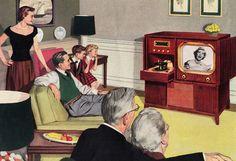 Wednesday Night Family Entertainment ~ 1951 Motorola Television ad.