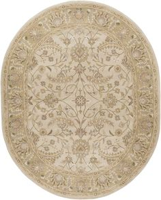Topaz  Taupe Floral Area Rug