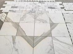 "Calacatta (Calcutta) Gold Polished Marble | 12x12"" Floor & Wall Tile"