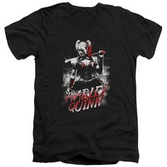 """Checkout our #LicensedGear products FREE SHIPPING + 10% OFF Coupon Code """"Official"""" Batman Arkham Knight / Quinn City-short Sleeve Adult V-neck 30 / 1 - Batman Arkham Knight / Quinn City-short Sleeve Adult V-neck 30 / 1 - Price: $34.99. Buy now at https://officiallylicensedgear.com/batman-arkham-knight-quinn-city-short-sleeve-adult-v-neck-30-1"""