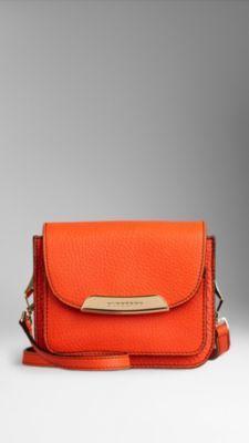 Grainy Leather Crossbody Bag