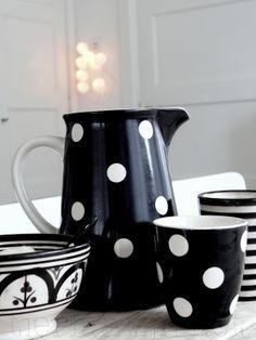 Jar, Mug, Plate with Dots