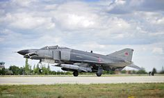 An F4E Phantom II aircraft with the Turkish Air Force (Türk Hava Kuvvetleri) takes off from Third Air Force Base Konya, Turkey, during Exercise Anatolian Eagle.