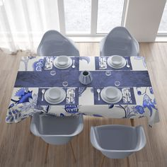 Matching napkins and table clothes