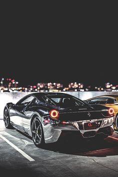 Silver Ferrari Chrome 458 • ✔️ هانا