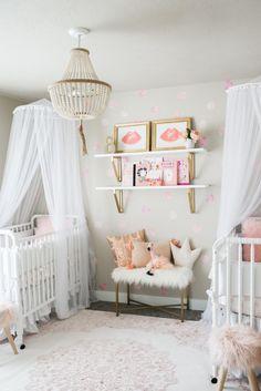 TWIN girl nursery