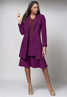 Plus Size Duster Jacket Dress (Boysenberry,34 W) BCO. $49.99. Save 44% Off!