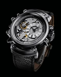 Gerald Genta Arena Metasonic Sonnerie Watch   $900,000... meant to be the most complex Grande Sonnerie watch in the world.  850 parts, 46mm titanium
