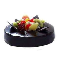 Treat your friends and family with this chocolaty fruit cake,which is beautifully designed with fruits topping and make your any occasion filled with happiness and flavour. Chocolate Fruit Cake, Dark Chocolate Cakes, Order Cakes Online, Cake Online, Buy Cake, Cake Shop, Delicious Fruit, Delicious Chocolate, Fresh Cake
