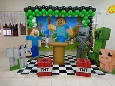 decoração festa infantil minecraft - Pesquisa Google