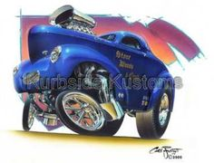 Chris Frogett has an awesome eye for hot rod art