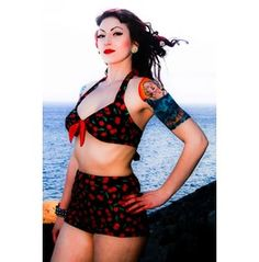 Pin Up Rockabilly Cherry Swimsuit