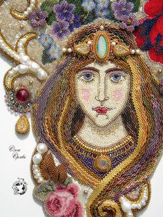 Olga Orlova: Queen Of The Garden made from beads...