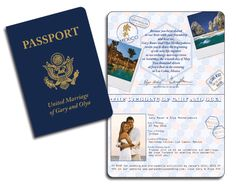 passport wedding invitations | Handmade Wedding Invitations ...