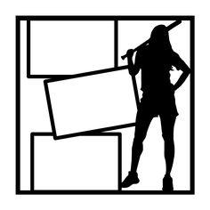 Wood Frame SVG file for scrapbooking cardmaking pine tree
