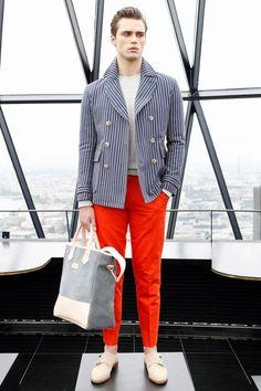Louis Simonon for Hardy Amies S/S 2014 London.