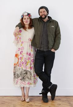 Kat is a print designer for Anthropologie & Ben is a painter.