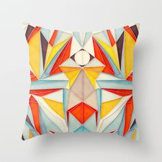 Everything is Fine Throw Pillow by Anai Greog - $20.00