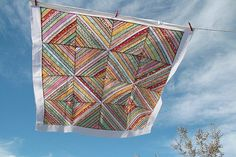 String quilt made from scraps