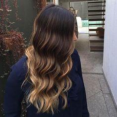 12-Gold-Blonde Balayage auf dunklem Haar