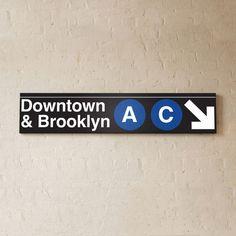 Underground Signs  Urban Subway Signs