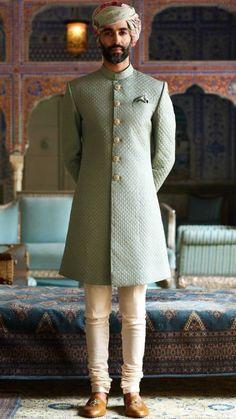 27 Ideas For Wedding Reception Dress Men Indian Mens Wedding Wear Indian, Sherwani For Men Wedding, Mens Indian Wear, Wedding Dresses Men Indian, Mens Ethnic Wear, Sherwani Groom, Groom Wedding Dress, Indian Men Fashion, Wedding Men