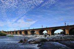 Pont Régemortes, Moulins, Auvergne, France.