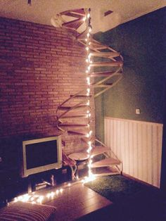 Stairway to ground floor