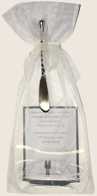 Wedding Invitation Bottle with bag and spreader