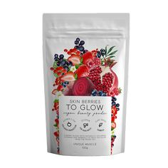 Be A GLOW-GETTER with this berry blend featuring naturally occurring vitamins and minerals to help y Rice Berry, Collagen Drink, Beauty Boost, Juice Branding, Beetroot Powder, Strawberry Juice, Healthy Nails, Healthy Skin