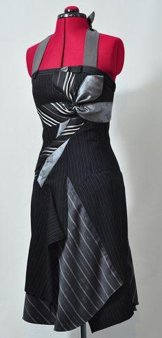 Handmade Woman Dress - Jeviev - upcycled fashion (XS). £90.00, via Etsy.