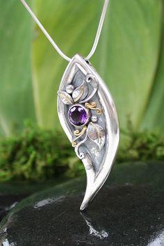 Lavender Mist, OOAK, Handmade Amethyst Necklace, February Birthstone. $445.00, via Etsy.
