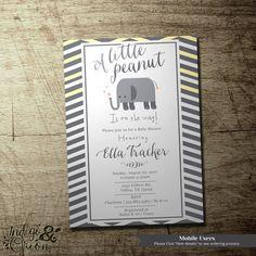 Little peanut baby shower invitation gender by IndigoAndOrion