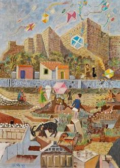 Hellenic Psyche and Poetic Eros: Odysseas Elytis Artist Painting, Artist Art, Greece Painting, Street Art, Georges Braque, 10 Picture, Urban Art, Art World, New Art